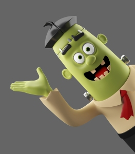 Frankenstein's monster smiling