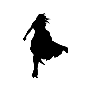 Superhero woman silhouette