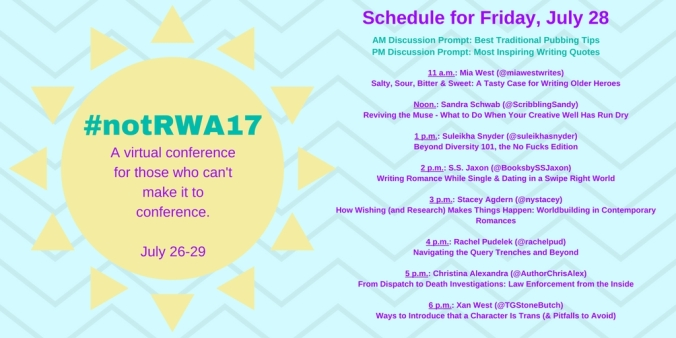 Not RWA Friday's Schedule