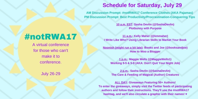 Not RWA Saturday's Schedule