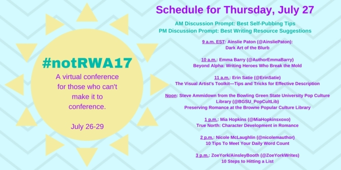 Not RWA Thursday's Schedule