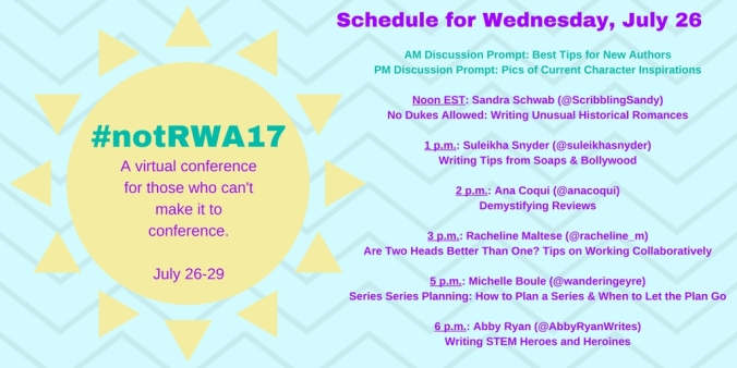 Not RWA Wednesday Schedule